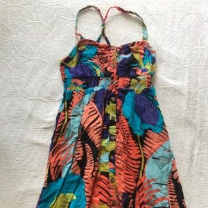 Anthropologie tropical pattered dress